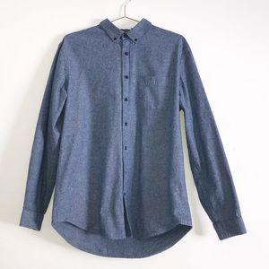 Frank & Oak Men Long Sleeve Button Down Shirt